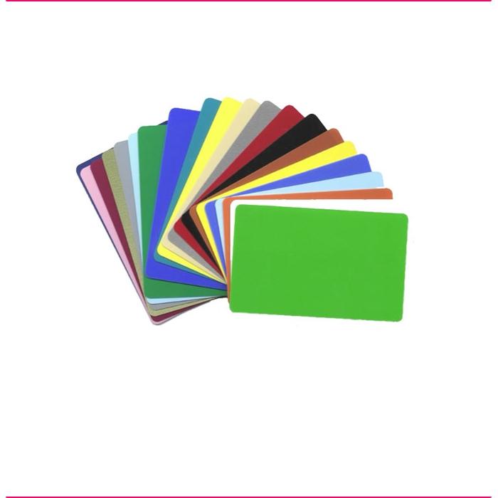 Cartões PVC Coloridos