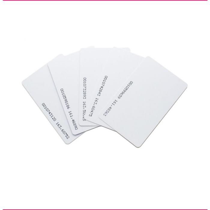 Cartões RFID 125Khz EM Nº Impresso